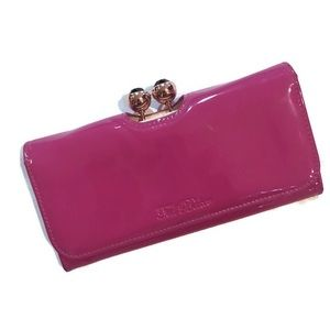 Ted Baker Fuschia Patent Leather Wallet